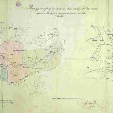 Plano de los pueblos del Coto mixto