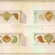 Cuatro proyectos de mesas de altar para la iglesia del Monasterio de la Visitación (Salesas Reales) en Madrid