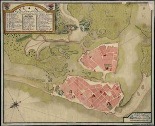Plan Etipográfico de La Ciudad de Cataga. de Las Indias