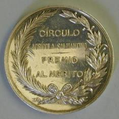 Medalla de la Exposición Agrícola y Pecuaria de Salamanca.