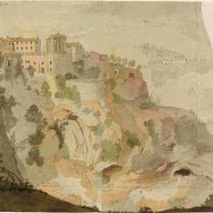 Vista del Barranco de Tivoli tomada desde la fabrica de Salitres frente á el Templo dela Sivila