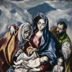 La Sagrada Familia con Santa Ana y San Juanito