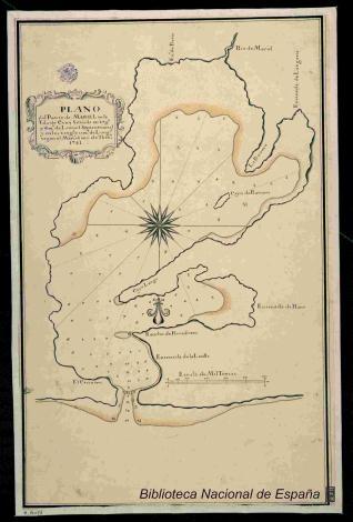 Plano del Puerto de Mariel en la Ysla de Cuba