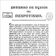 Entierro de huesos del despotismo