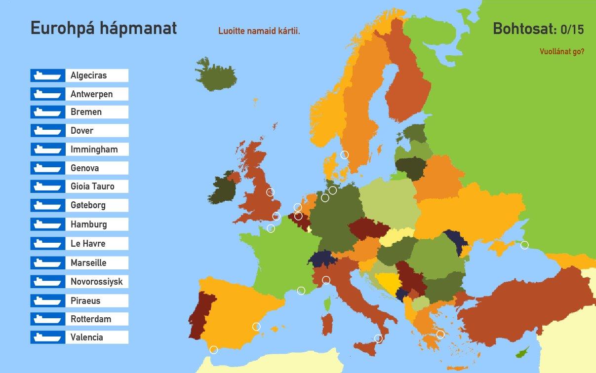 Eurohpá hápmanat  . Toporopa
