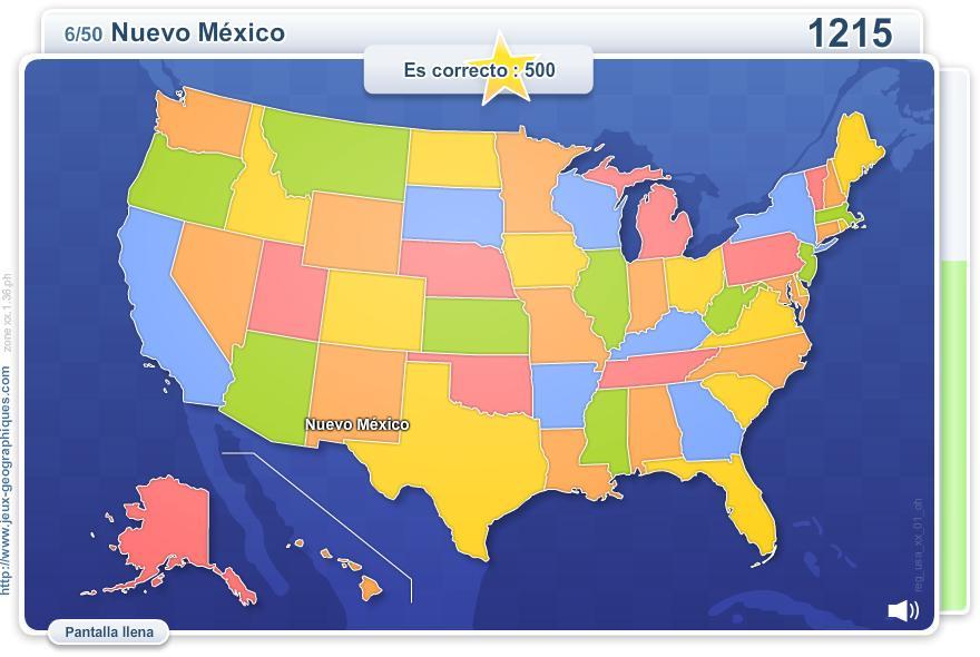 Estados de los EE. UU. Juegos Geográficos