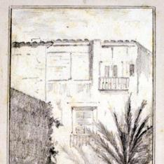 Vista exterior de. Palacio de Mosén Sorell, Valencia (?)