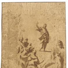 Cristo discutiendo con los doctores en el Templo y estudios de cabeza y figura