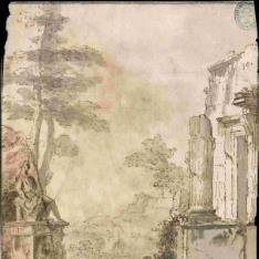 Paisaje con ruinas clásicas