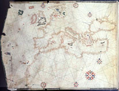 Mapa del Mediterráneo