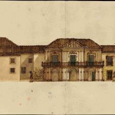 Fachada interior de un palacio o casa real