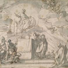 Aparición de San Francisco de Sales a San Claudio Croeix (o a San Juan Bautista Gord)