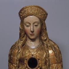 Busto relicario de santa