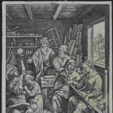 El Niño Jesús haciendo pompas de jabón