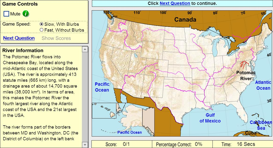 Picture of: Interactive Map Of United States Rivers Of United States Game Sheppard Software Mapas Interactivos De Didactalia
