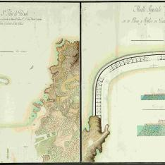 Plano del Puerto de la Villa de Sn. Feliu de Guixols