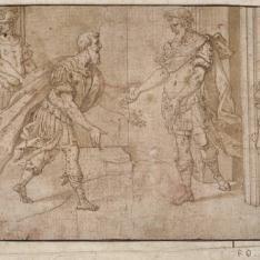 Emperador romano recibiendo a un emisario