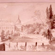 Palacio de Aranjuez desde la cascada