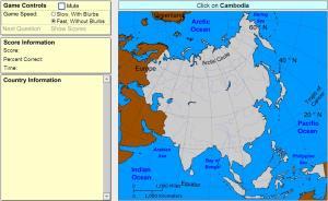 Countries of Asia. Advanced Intermediate. Sheppard Software