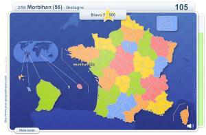 Départements français. Jeux géographiques
