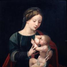 La Virgen leyendo con Niño