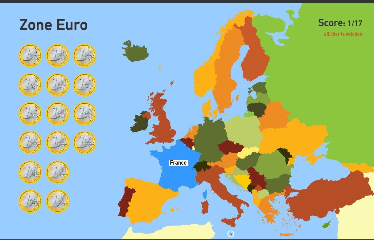 Zone Euro. Toporopa