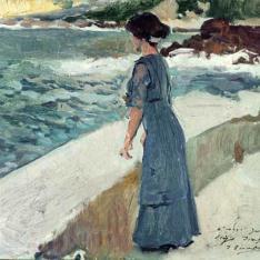 Mujer ante el mar, San Sebastián - Mujer ante el mar, Zarauz