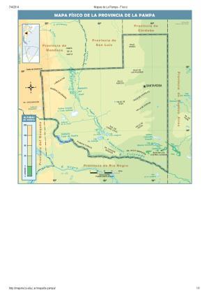 Mapa de ríos de La Pampa. Mapoteca de Educ.ar