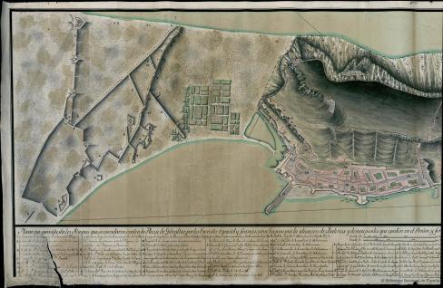 Plano de los Ataques contra la Plaza de Gibraltar