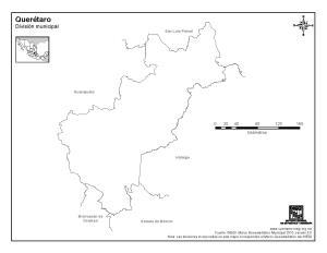 Mapa mudo de Querétaro. INEGI de México