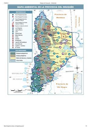 Mapa ambiental de Neuquén. Mapoteca de Educ.ar