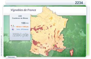 Vignobles de France. Jeux géographiques