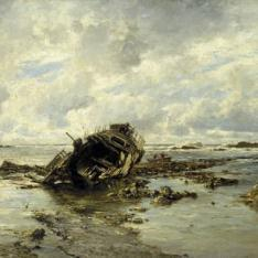 Un barco naufragado
