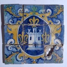 Paño de nueve azulejos