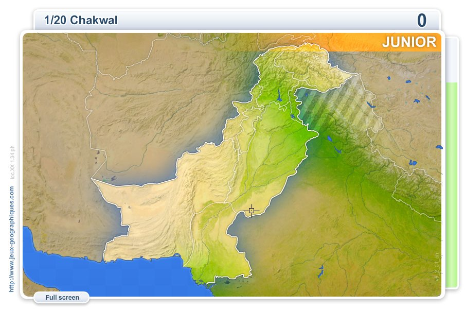 Cities of Pakistan Junior . Geography map games
