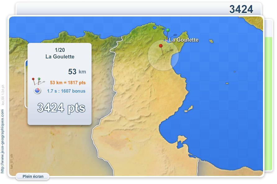 Villes de Tunisie. Jeux géographiques