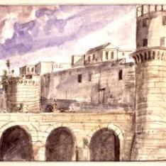 Vista del Castel Nuovo de Nápoles