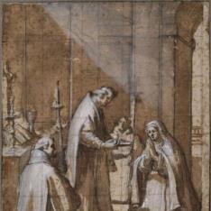 Comunión de una santa monja
