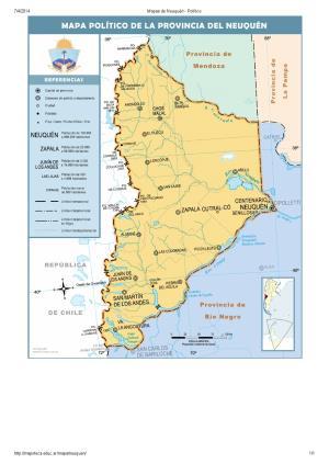 Mapa de capitales de Neuquén. Mapoteca de Educ.ar