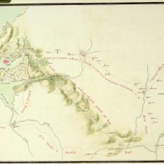 Mapa de los distintos caminos que unen La Coruña y Ferrol con Castilla