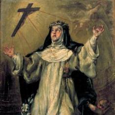 Santa Catalina de Siena en éxtasis