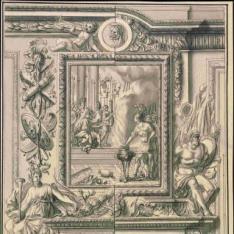 Panel ornamental con chimenea