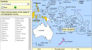 Capitals of Oceania. Expert. Sheppard Software