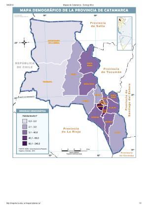 Mapa demográfico de Catamarca. Mapoteca de Educ.ar