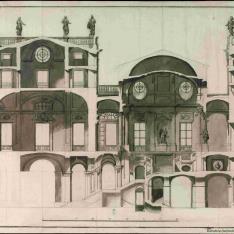 Proyecto para la escalera del Palacio Real de Madrid.