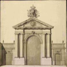 Puerta de Recoletos en Madrid