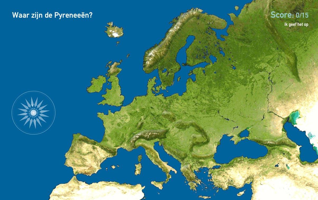 Bergketens van Europa. Toporopa