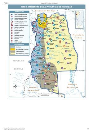 Mapa ambiental de Mendoza. Mapoteca de Educ.ar