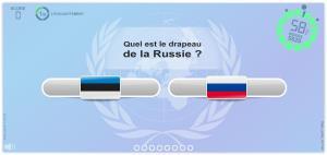 Les drapeaux du Monde. Jeux géographiques