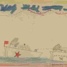 Combate naval: dibujo deinbentiba (i.e. inventiva)